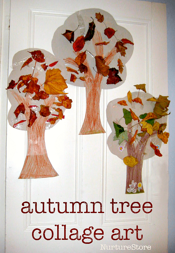 autumn tree collage crafts for toddlers preschool