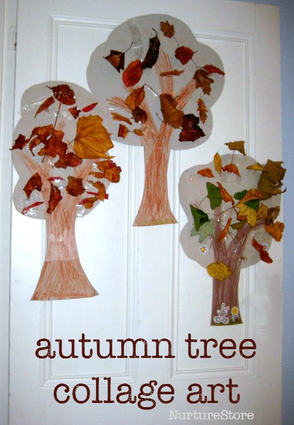 autumn tree collage art preschool
