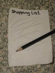 'write' your shopping list