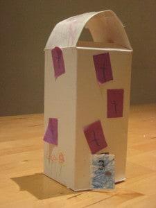 a cardboard mansion