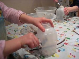 fill milk carton with seeds