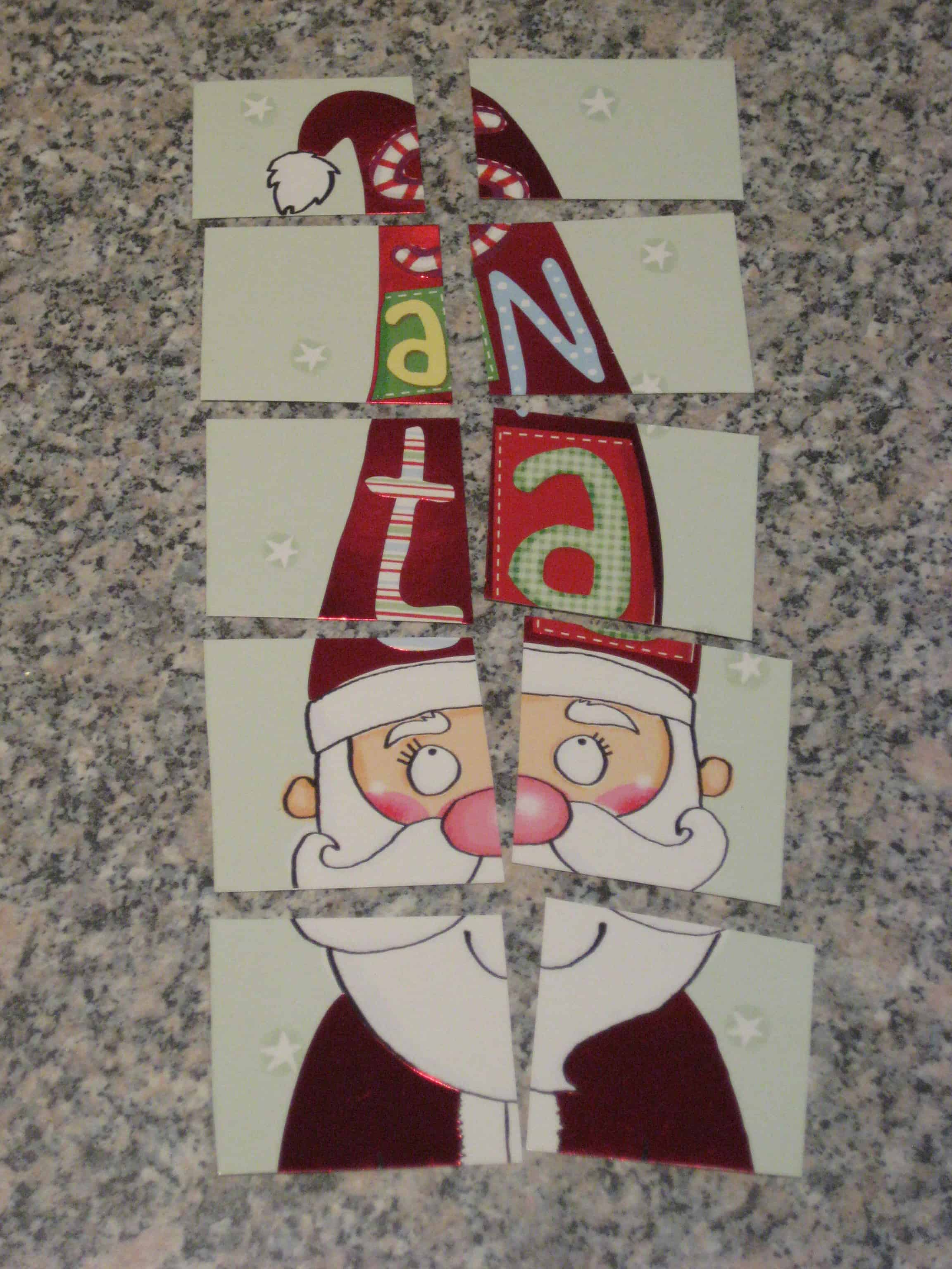 Recycle your christmas cards make a jigsaw and a memory for How to recycle old christmas cards