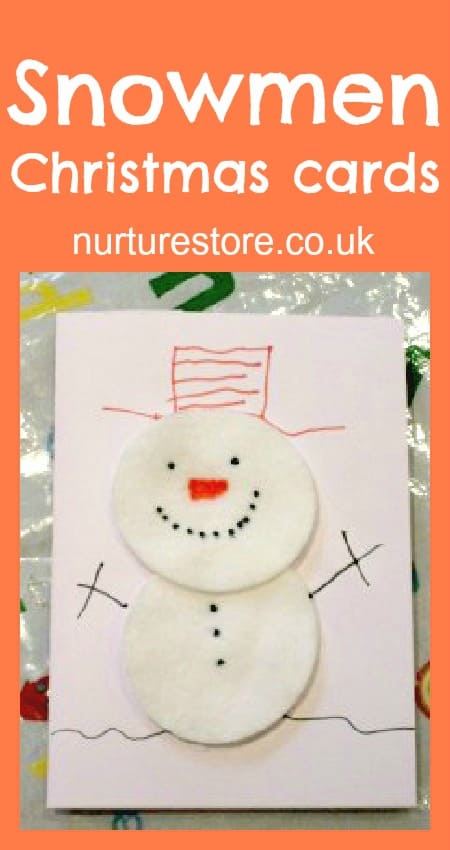 cotton wool snowman