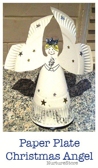 Christmas Crafts Paper Angels : How to make a paper plate angel nurturestore