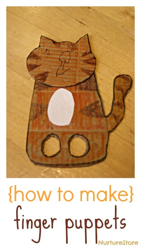 How to make simple finger puppets :: NurtureStore :: inspiration for kids