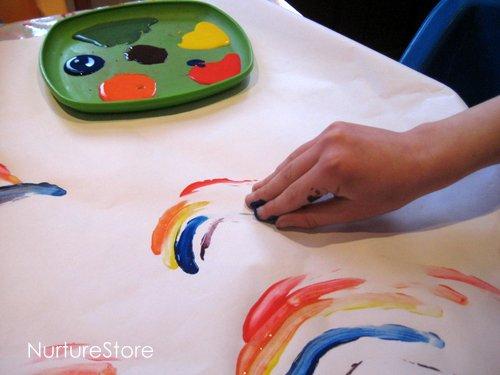 st patricks rainbow craft