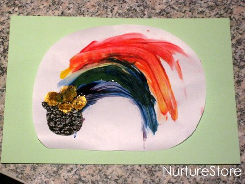 st patricks rainbow craft