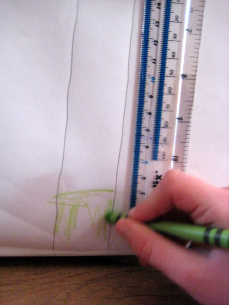 measuring on a sunflower height chart