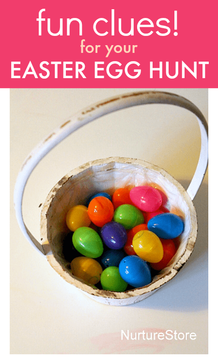 Fun ideas to use as Easter egg hunt clues