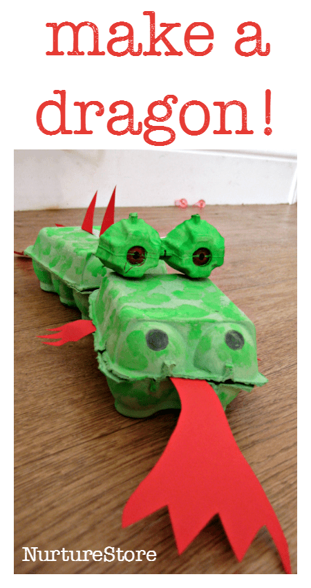 egg box dragon craft - great for chinese new year