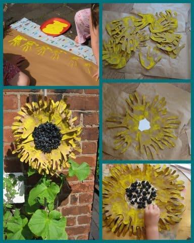 Handprint sunflowers nurturestore we have one more sunflower fandeluxe PDF