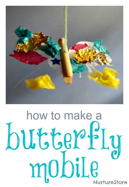 butterfly mobile craft kids