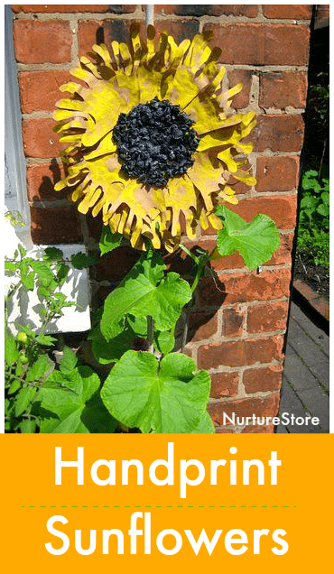 easy handprint sunflower craft for kids