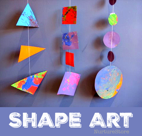 Easy shape art activity for preschool and toddlers