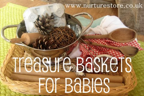 Treasure Baskets for Babies (Photo from NurtureStore)
