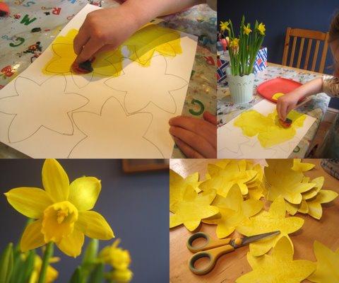spring craft daffodil bunting