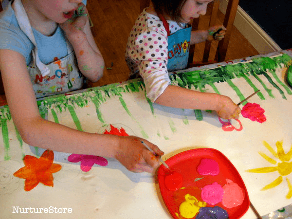 collaborative spring art project