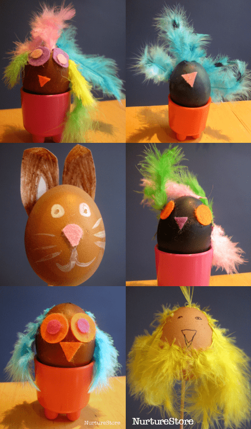 Fun ideas for easy Easter egg decorating with children