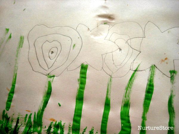 spring flower craft using paint
