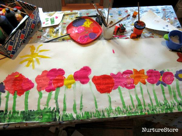 spring flower meadow craft