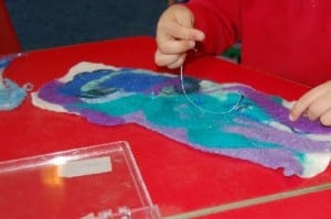 feltmaking with children