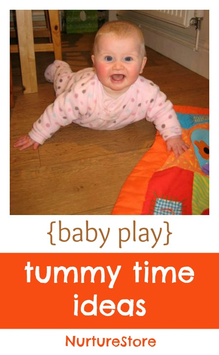 Nice ideas for babies to encourage happy tummy time.
