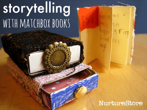 writing prompt with matchbox books