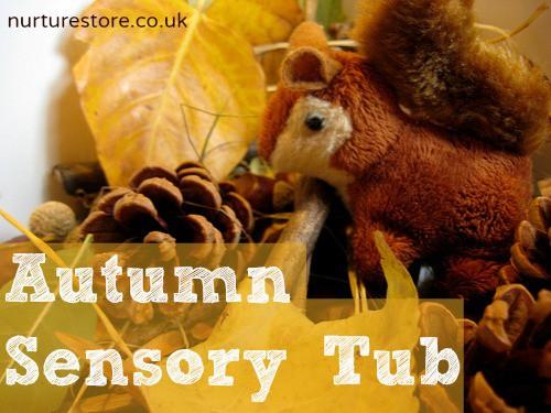 autumn sensory tub