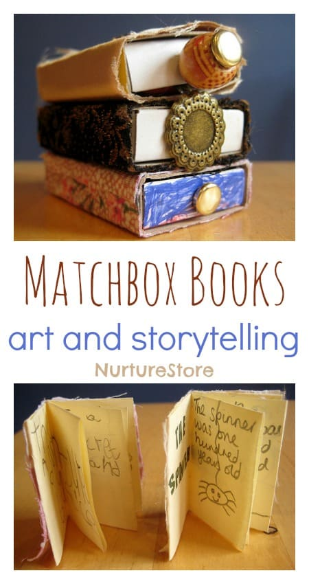Beautiful matchbox books for art and storytelling