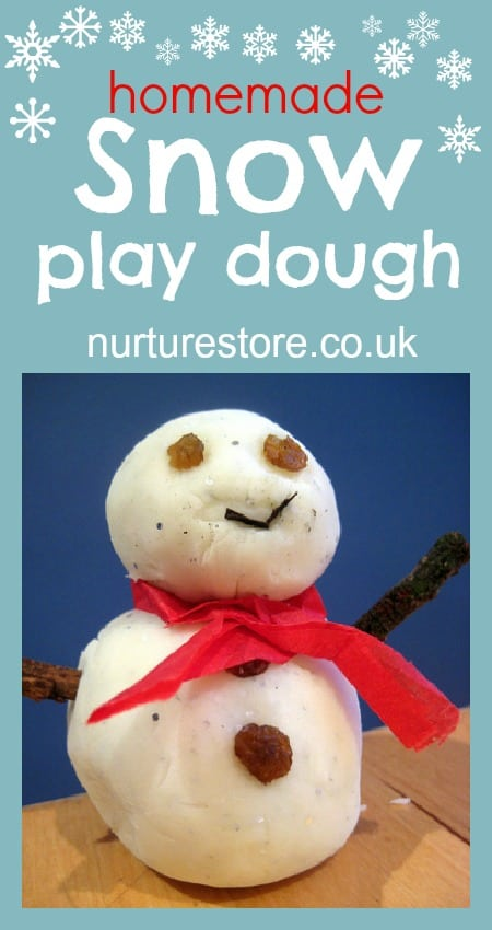 snow play dough
