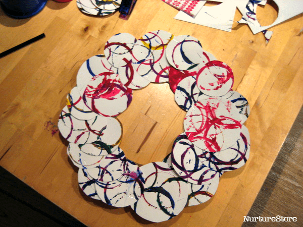easy Christmas wreath craft for kids