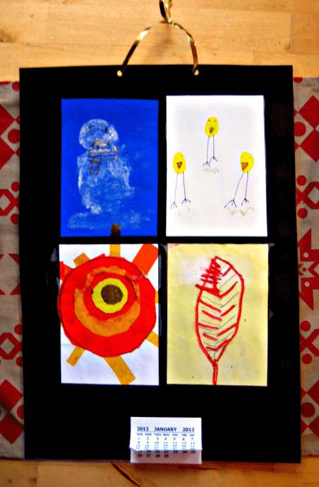four seasons calendar kids can make
