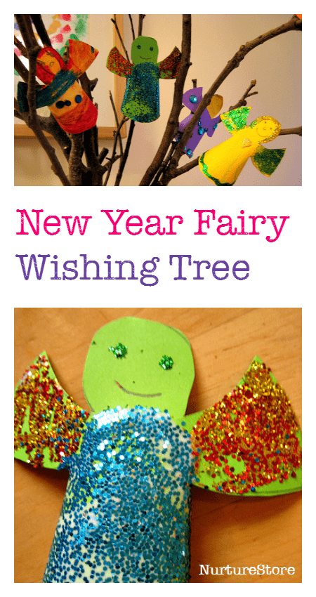A lovely New Year craft fir kids - make a fairy wish tree