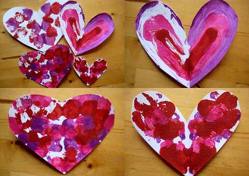 Valentine craft symmetry hearts for Valentines day art and crafts for preschoolers