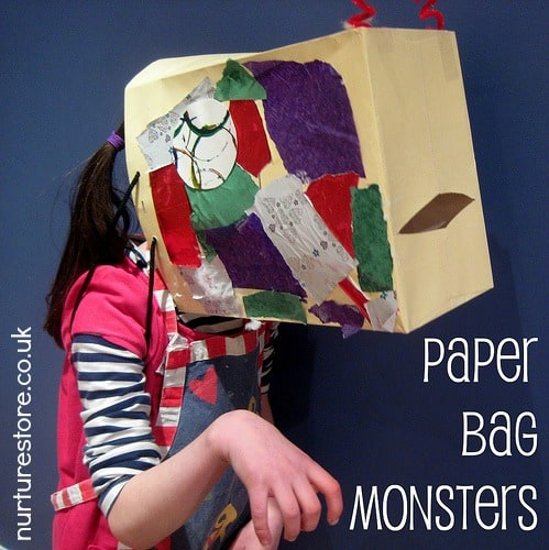 photo of: Upcycled Paper Bay Monster by nurturestore (Monster RoundUP via RainbowsWithinReach)