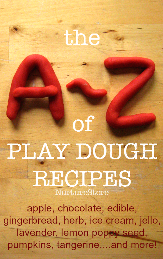 So many different play dough recipes!
