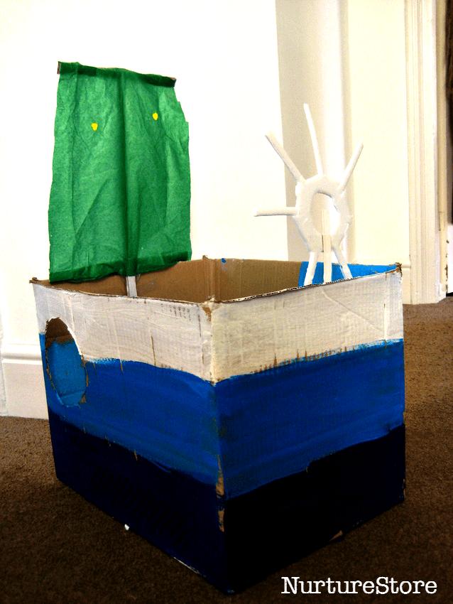 cardboard box boat craft