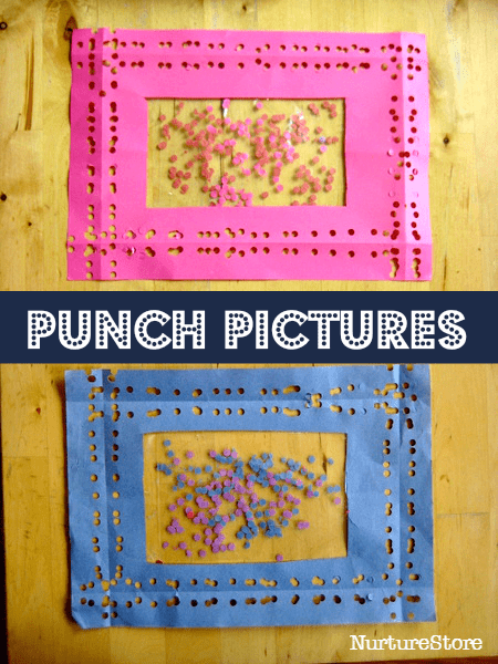 hole punch craft process art projects for kids