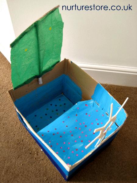 junk model boat
