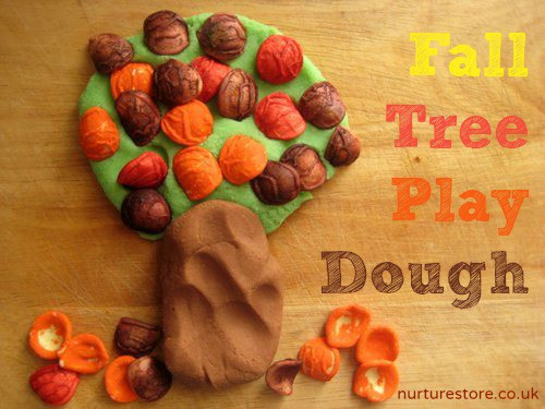 Playdough Tree with Pasta Leaves (Photo from NurtureStore)