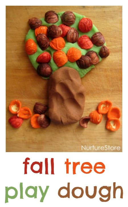Clever idea : fall tree play dough recipe