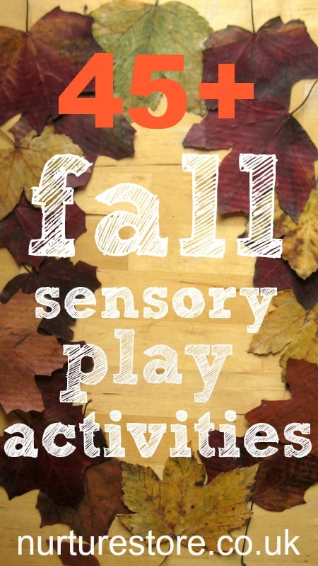 fall sensory play activities, autumn sensory play ideas