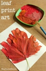 fall leaf print art 150