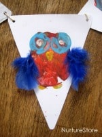 owl bunting craft