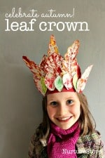 preschool autumn craft leaf crown