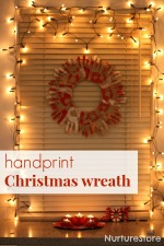 handprint Christmas wreath 150