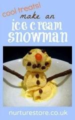 ice cream snowman
