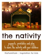 nativity puppets and printables for children