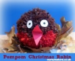 pompom robin Christmas craft