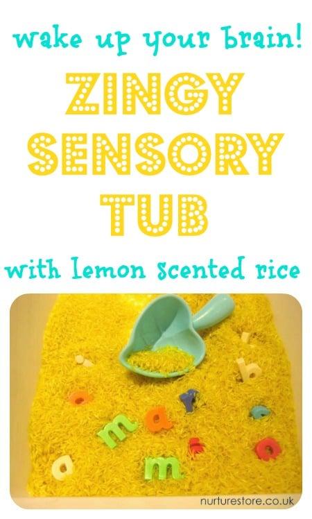 sight word sensory tub